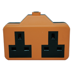 Two Gang Orange Extension Socket